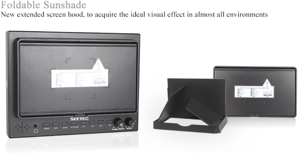 Seetec 7 Inch ST-702HSD HD LCD 3G-SDI HDMI Camera Field Monitor for BMCC//BMPC//BMPCC//Micro Camera