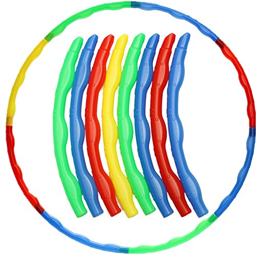 Toyofmine Colorful Adjustable Hula Hoop Child Kids Portable Yoga Fitness Slot Sports Toys