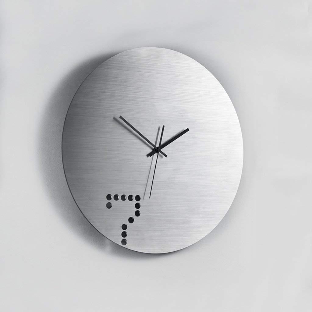 MVW Kreative Wohnzimmer Mode Mute Schautafeln modernen minimalistischen Uhr Schlafzimmer Quarzuhr Rollsnownow