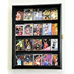 Sport Collectible Card Display Case Cabinet Holder Wall Rack -Black