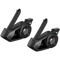 SENA 30K-01D Black Small 30K Motorcycle Bluetooth Communication Mesh Intercom Dual Pack, 2 Pack