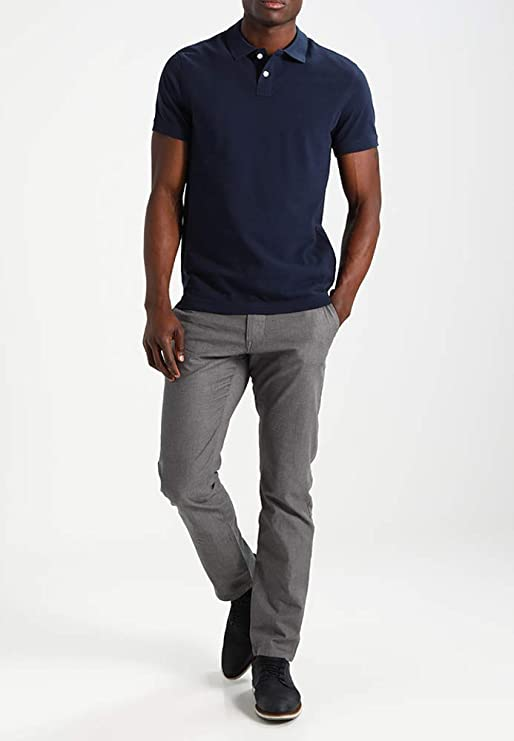 Pier One Camiseta Polo para Hombre de Algodón - Camiseta Pique de Manga  Corta - Camisa Polo con la Espalda Ligeramente Extendida 4b805dde1b45c