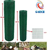 G4RCE Green PVC Coated Welded Mesh Fence Wire For Garden Fencing Guard Barrier Sizes (0.9 x 30m)