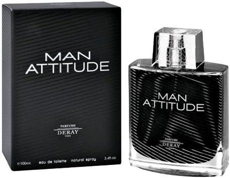 Amazoncom Deray Man Attitude Eau De Toilette Spray 34 Ounce