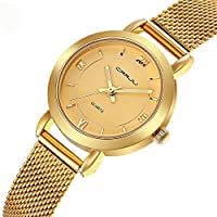 Women's Watches Casual Fashion Waterproof Watches Gold Mesh band Quartz Wrist watch