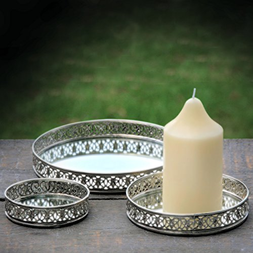 2 Piece Mirror Candle Holder - 7