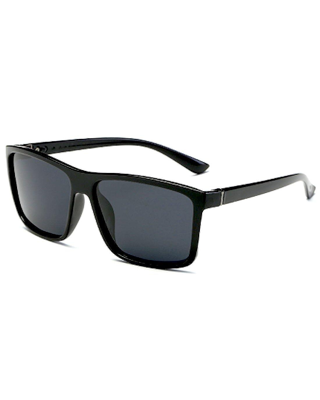 72af0326de1b Amazon | [FREESE] 偏光 サングラス メンズ 3D立体 超軽量 UV400 紫外線カット スポーツ ドライブ バイク 運転  クロス&メガネケース(ブラック) | サングラス 通販