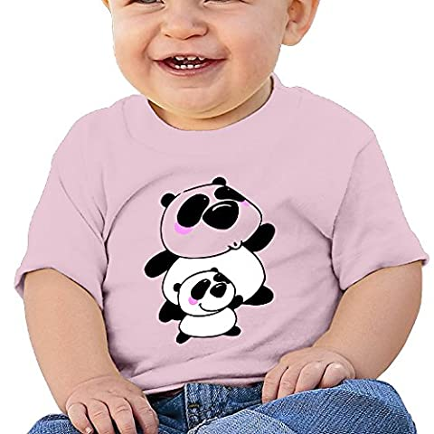 Panda Mama And Baby Baby Boys Girls Sleeve Short T-shirts Outfit 6-24M (Baby Mammoth Mummy)