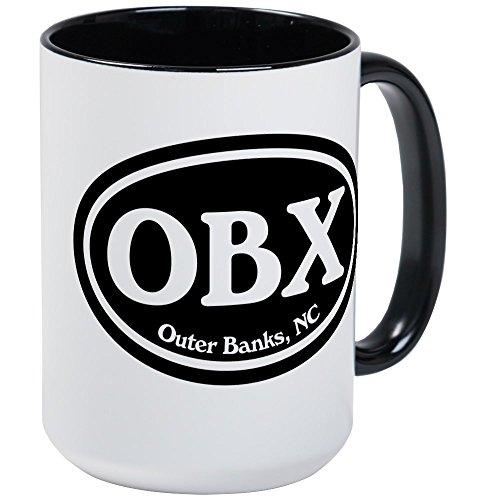 CafePress OBX Outer Banks, NC Oval Large Mug Coffee Mug, Large 15 oz. White Coffee Cup