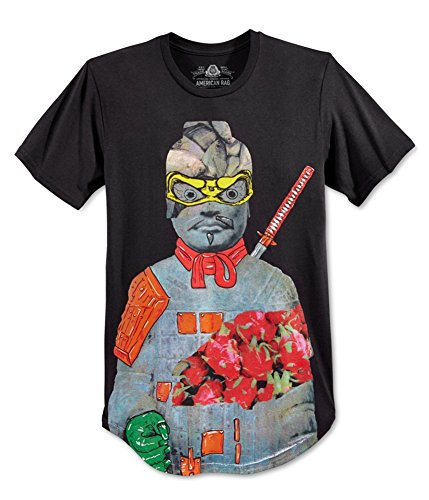 American Rag Mens Graphic Short Sleeves T-Shirt Black M