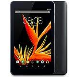 Alldaymall A88T Pro 7'' Tablet, 64 bits Quad Core, HD 1920x1200 IPS Display, 1GB RAM 16GB Flash, Android 5.1 Lollipop, Black