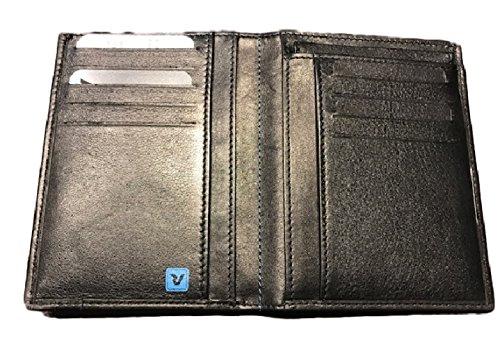 934c1fd74a Portafoglio Verticale Roncato Pelle Uomo Nero Linea Marte Piatto art 1153:  Amazon.it: Valigeria