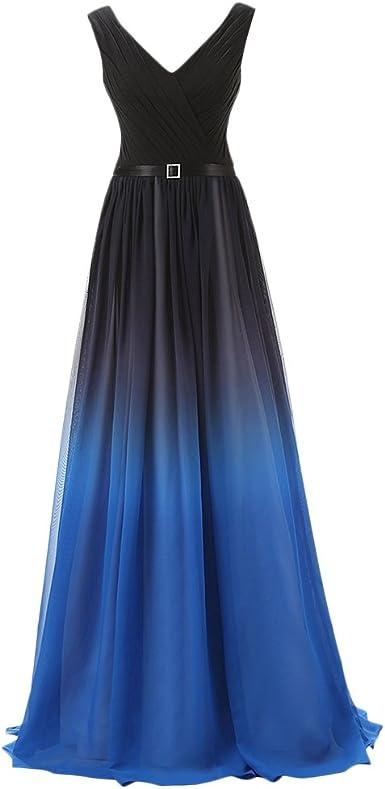 Women Gradient Ruched One Shoulder Formal Wedding Bridesmaid Long Maxi Dresses
