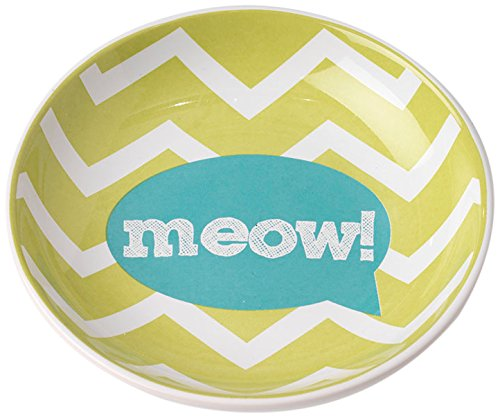 PetRageous Zigazaga 5.2 Saucer Meow! Bowl, 5.25