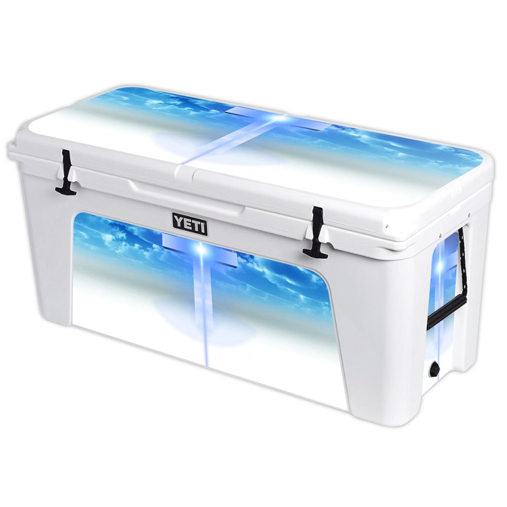 MightySkins Protective Vinyl Skin Decal for YETI Tundra 160 qt Cooler wrap Cover Sticker Skins Cross