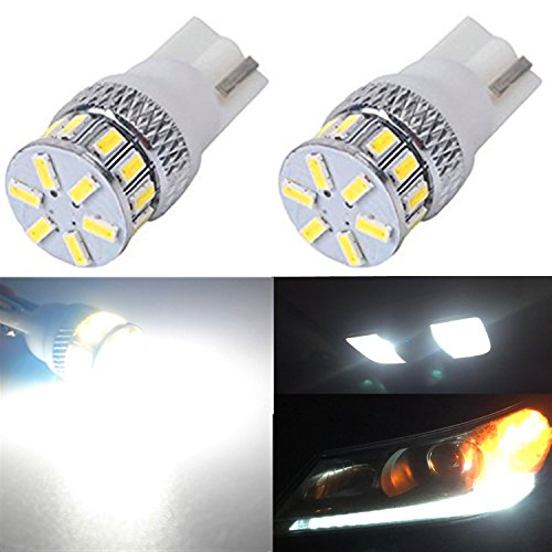 1993 Nissan Nx Replacement (Alla Lighting New Version 4014 18-SMD Xtremely Super Bright T10 Wedge 194 168 2825 W5W 175 6000K White LED Bulbs Lamps Replacement (Dome Light,)
