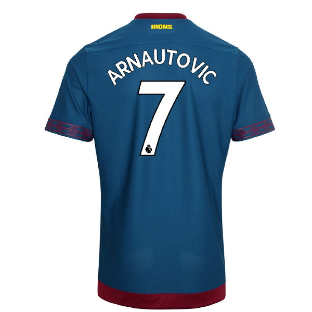 2018-2019 West Ham Away Football Soccer T-Shirt Trikot (Marko Arnautovic 7)