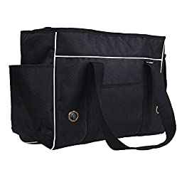 Juway Pets Traveller Bus Bag For Small Pets(Black,S)