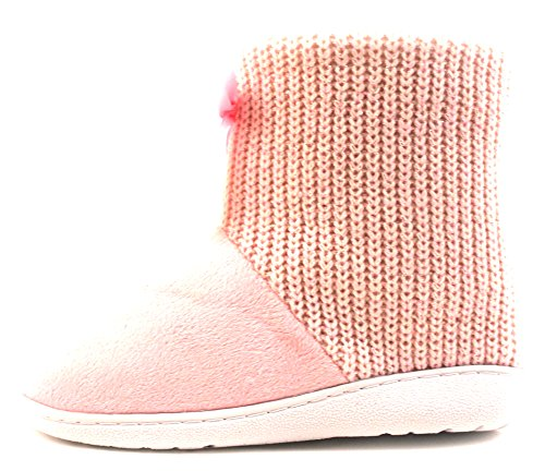 Luckers Womens Slipper Booties Poncho Pink nnofT0