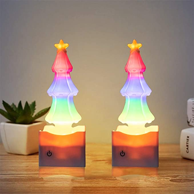 Amazon.com: Elevin - Luces LED para árbol de Navidad, luz de ...