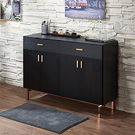 Superbe Furniture Of America Lauren 2 Drawer Buffet Table In Black