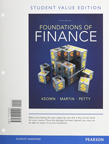 Foundations of Finance, Student Value Edition Plus NEW MyFinanceLab with Pearosn eText -- Access Card Packge (8th Editio