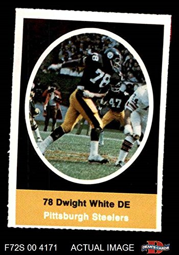 1972 Sunoco Stamps Dwight White Pittsburgh Steelers (Football Card) Dean's Cards 6 - EX/MT Steelers -