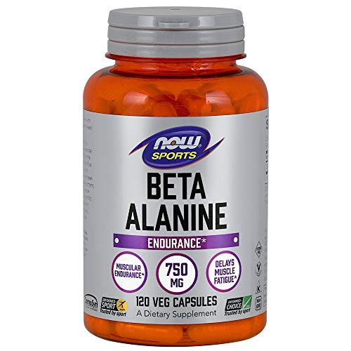 NOW Sports Beta-Alanine 750mg, 120 Capsules