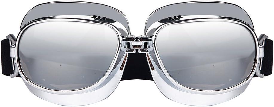 Triclicks Gafas Aviador Moto//ATV//esqu/í//Equitaci/ón//Protecci/ón Vintage//Retro M/áscara