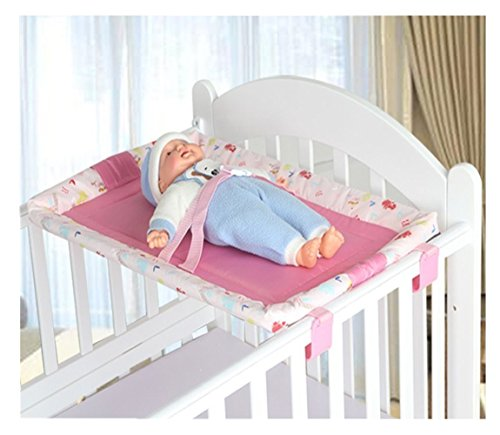 Universal Baby Cot Top Changer 70 X 45 CM CM Portable Changing Table (Pink)