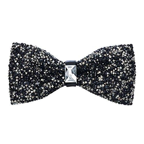 Tie - Black (Black Glitter Bow)