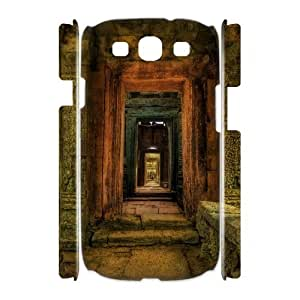 3D Samsung Galaxy S3 Cases Passageway Inside Temple Cambodia Protector for Girls, Case for Samsung Galaxy S3 Mini for Women Vinceryshop, {White}
