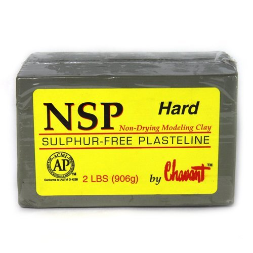 Chavant Clay - NSP Hard Green - Sculpting and Modeling Clay (1/4 Case) by Chavant (Image #1)
