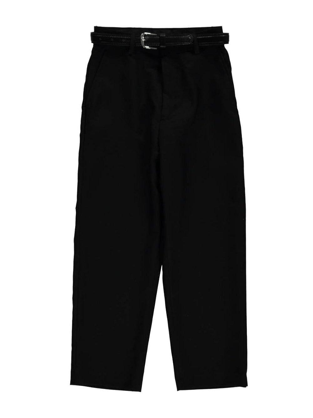 Vittorino Big Boys' Belted Flat Front Dress Pants