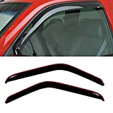 vent shades 2001 ford ranger - Gldifa In-Channel Wind Deflector For 1993-2011 Ford Ranger Front Sun/Rain Guard Vent Shade Window Visors 2pcs