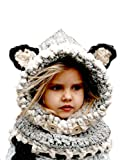 Aukmla Animal Ear Hats Caps Kids Warm Winter Beanies Baby Knitted Coif Hooded