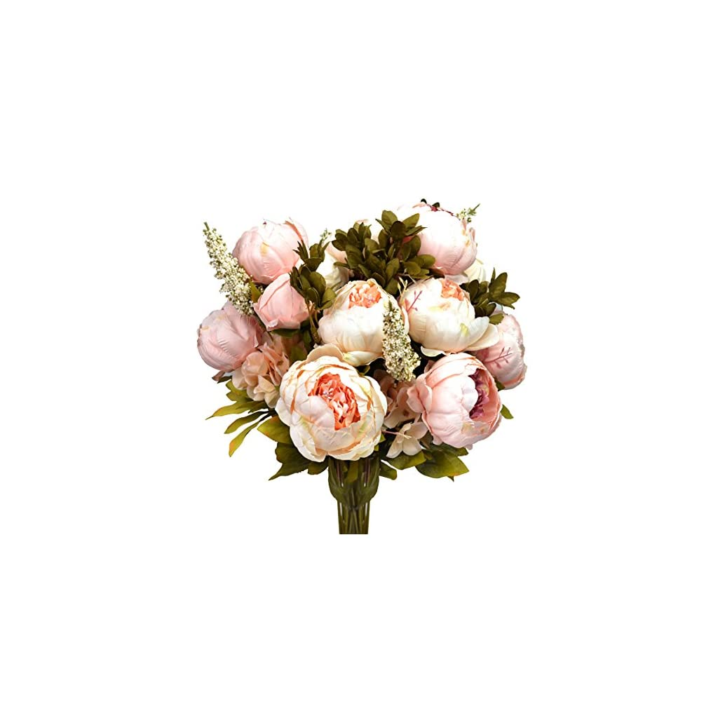 Hmxpls-Vintage-Artificial-Peony-Silk-Flowers-Bouquet-Craft-Fake-Flowers-Floral-Decor-Glorious-Moral-for-Home-Dining-Table-Hotel-DIY-Party-Marriage-Wedding-Christmas-Decoration-Light-Pink