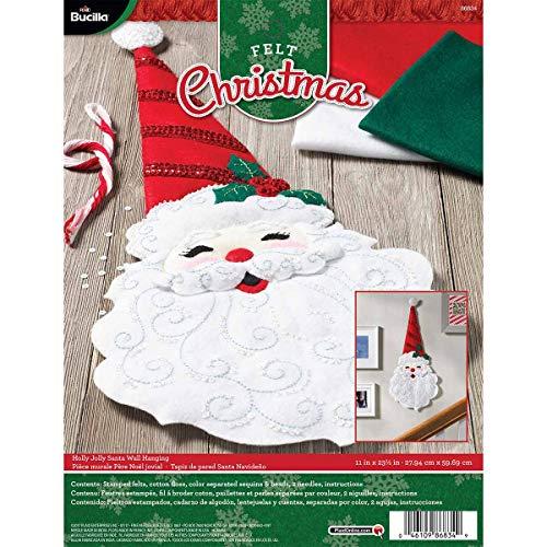 - Bucilla 86834 Holly Jolly Santa Wallhanging Kit