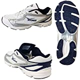 Squash Racqetball Shoes for Sports Played On Wooden Floor (US 11 - UK 10 - Euro 45, Royal Blue - Silver - White)