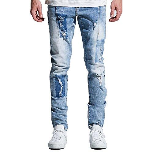 Embellish NYC Paul Denim Jeans Light Blue Patch by Embellish NYC