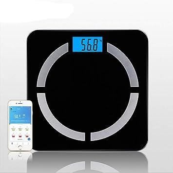 8 En 1 Balanza Digital Bluetooth Inteligente Balanza Pesas Electrónica Báscula Peso Balanza Adelgazamiento Báscula Pesaje Calorías Visceral BMI Escala ...