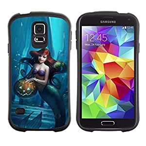LASTONE PHONE CASE / Suave Silicona Caso Carcasa de Caucho Funda para Samsung Galaxy S5 SM-G900 / Halloween Blue Kids Children