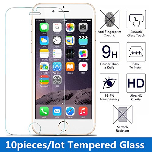 Saasiiyo 10pcs/lot 9H 0.3 mm 2.5d Premium Tempered Glass Screen Protector for iPhone 7Plus Toughened protective film