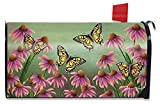 Briarwood Lane Echinacea Butterfly Spring Mailbox Cover Monarch Butterflies Floral Standard