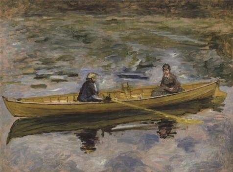 'Pierre Auguste Renoir-Claude Monet With Mme Henriot, 1880' Oil Painting, 30x41 Inch / 76x103 Cm ,printed On High Quality Polyster Canvas ,this Imitations Art DecorativeCanvas Prints Is Perfectly Suitalbe For Gym Decoration And Home Gallery Art And Gifts