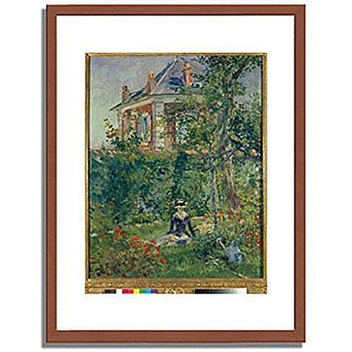 エドゥアールマネ Edouard Manet「A Garden Nook at Bellevue. 1880 」 インテリア アート 絵画 プリント 額装作品 フレーム:木製(茶) サイズ:XL (563mm X 745mm) B00NEDPC30 4.XL (563mm X 745mm)|1.フレーム:木製(茶) 1.フレーム:木製(茶) 4.XL (563mm X 745mm)
