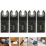 Pukido 5pcs 35mm Multitool Saw Blades Set for Bosch Fein Black Decker High Carbon Steel Saw Blade Oscillating Tools