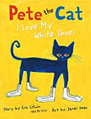 Don't miss the first and bestselling book in the beloved Pete the Cat series!               Pete the Cat goes walking down the street wearing his brand-new white shoes. Along the way, his shoes change from white to red ...