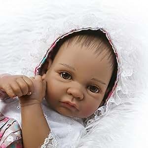 Amazon.com: iCradle - Muñeca de vinilo para bebé de 10.2 in ...