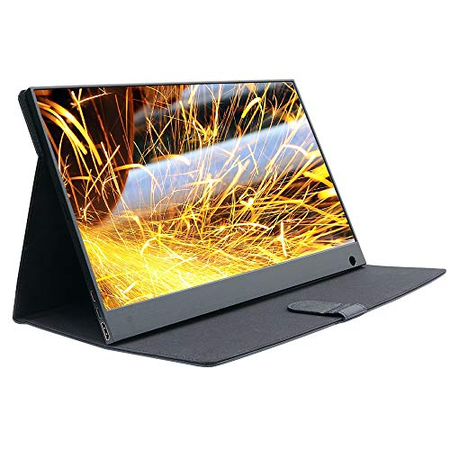 WIMAXIT External Portable Monitor,15.6 Inch Touch Slim IPS HD 1920x1080 16:9 Display, Narrow Border HDMI/2 Type-C (USB C) Interface/Built-in Speakers VESA Mount, for Laptop Gaming Working Monitor ()